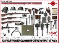 ICM1/35 ミリタリービークル・フィギュアイタリア歩兵 ウェポン & 装備セット