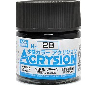 GSIクレオス水性カラー アクリジョンメタルブラック (N-28)