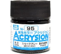 GSIクレオス水性カラー アクリジョンスモークグレー (N-95)