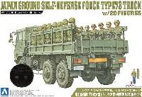 アオシマ1/72 ミリタリーモデルキットシリーズ陸上自衛隊 73式 大型トラック 3t半 (乗車隊員20体セット)