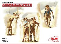 ICM1/35 ミリタリービークル・フィギュアアンザック歩兵 (1915)