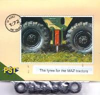 PST1/72 AFVモデルロシア S-300系 MAZトラック用 タイヤ
