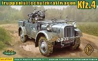 ドイツ Kfz.4 ストゥーバー 軽四輪駆動車 対空機銃搭載型
