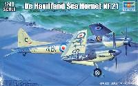 トランペッター1/48 エアクラフト プラモデルデ・ハビランド シーホーネット NF.21