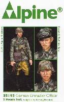アルパイン1/35 フィギュアWW2 ドイツ 擲弾兵 将校 (スプリンター迷彩ジャケット)
