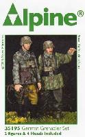 アルパイン1/35 フィギュアWW2 ドイツ 擲弾兵 (スプリンター迷彩服) (2体セット)