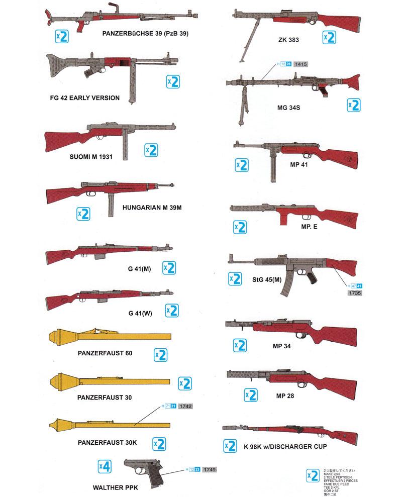 WW2 ドイツ歩兵 ウエポンセット PART-2プラモデル(ドラゴン1/35 Quartermaster SeriesNo.3816)商品画像_1