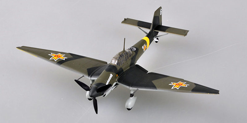 Ju87D-3 スツーカ ルーマニア空軍 1943年完成品(イージーモデル1/72 ウイングド エース (Winged Ace)No.36389)商品画像_1
