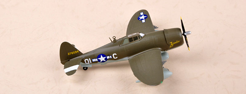 P-47D サンダーボルト レイザーバック 第356戦闘航空群 第361戦闘飛行隊完成品(イージーモデル1/72 ウイングド エース (Winged Ace)No.36420)商品画像_1
