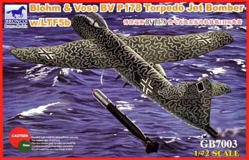 ブロームウントフォス Bv P178 w/LTF5b 航空魚雷プラモデル(ブロンコモデル1/72 エアクラフト プラモデルNo.GB7003)商品画像