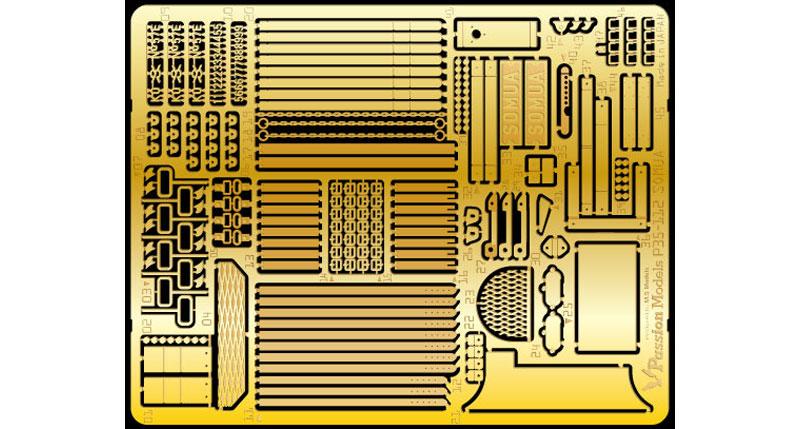 ソミュア S35 エッチングセット (タミヤ用)エッチング(パッションモデルズ1/35 シリーズNo.P35-112)商品画像_1