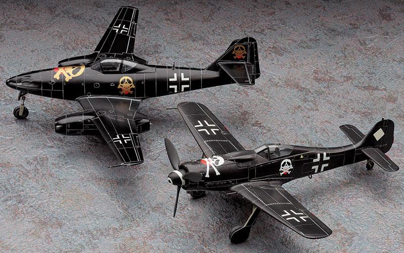 ベルリンの黒騎士 フォッケウルフ Fw190D-9 & メッサーシュミット Me262A-1aプラモデル(ハセガワクリエイター ワークス シリーズNo.64727)商品画像_2