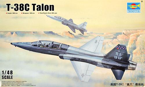 T-38C タロンプラモデル(トランペッター1/48 エアクラフト プラモデルNo.02877)商品画像