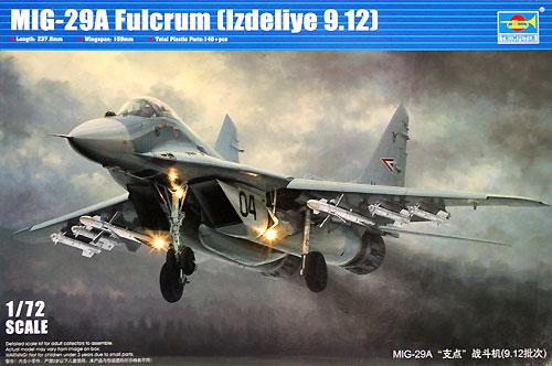 MiG-29A 9.12 ファルクラムプラモデル(トランペッター1/72 エアクラフト プラモデルNo.01674)商品画像