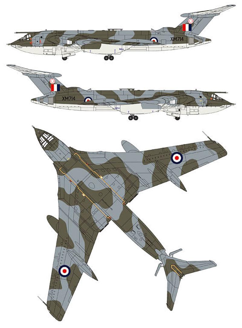 イギリス空軍 戦略爆撃機 ビクター B.2 (エッチングパーツ付)プラモデル(ピットロードSN 航空機 プラモデルNo.SN018E)商品画像_2