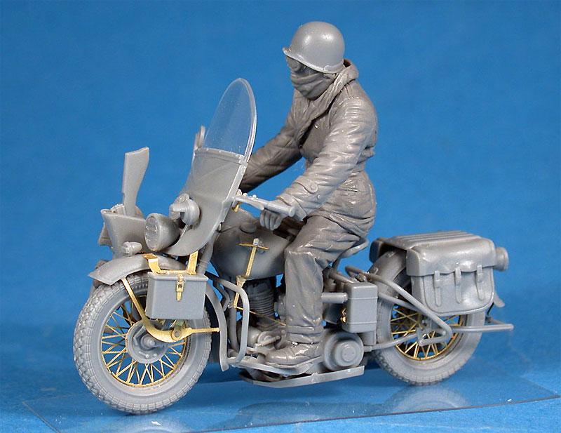 アメリカ モーターサイクル WLA w/ライダープラモデル(ミニアート1/35 WW2 ミリタリーミニチュアNo.35172)商品画像_3
