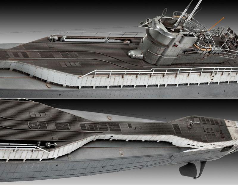 ドイツ Uボート Type9C/40 (U190)プラモデル(レベル1/72 艦船モデルNo.05133)商品画像_3