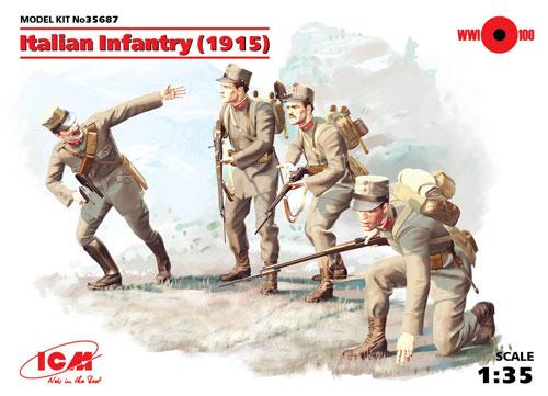 WW1 イタリア歩兵 (1915)プラモデル(ICM1/35 ミリタリービークル・フィギュアNo.35687)商品画像