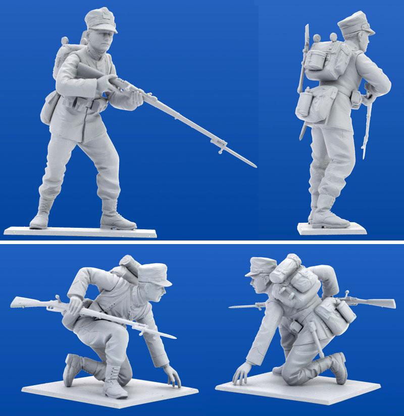 WW1 イタリア歩兵 (1915)プラモデル(ICM1/35 ミリタリービークル・フィギュアNo.35687)商品画像_4