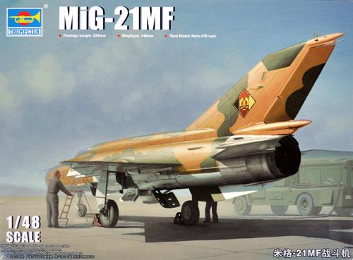 MiG-21MFプラモデル(トランペッター1/48 エアクラフト プラモデルNo.02863)商品画像
