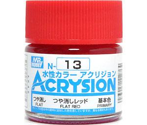 つや消しレッド (N-13)塗料(GSIクレオス水性カラー アクリジョンNo.N-013)商品画像