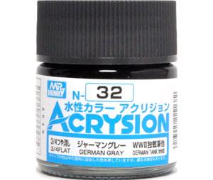 ジャーマングレー (N-32)塗料(GSIクレオス水性カラー アクリジョンNo.N-032)商品画像