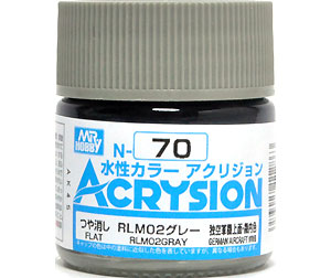 RLM02 グレー (N-70)塗料(GSIクレオス水性カラー アクリジョンNo.N-070)商品画像