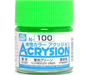 蛍光グリーン (N-100)塗料(GSIクレオス水性カラー アクリジョンNo.N-100)商品画像