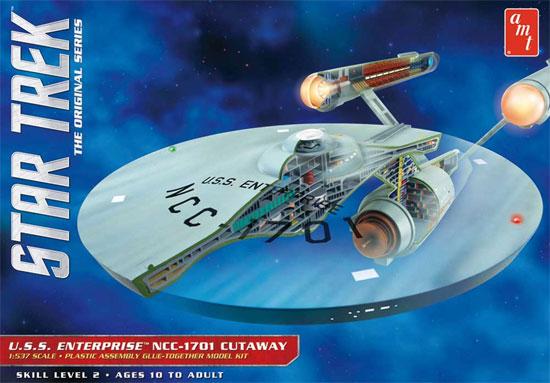 U.S.S. エンタープライズ NCC-1701 カットアウェイモデルプラモデル(amtスタートレック(STAR TREK)シリーズNo.AMT891/06)商品画像