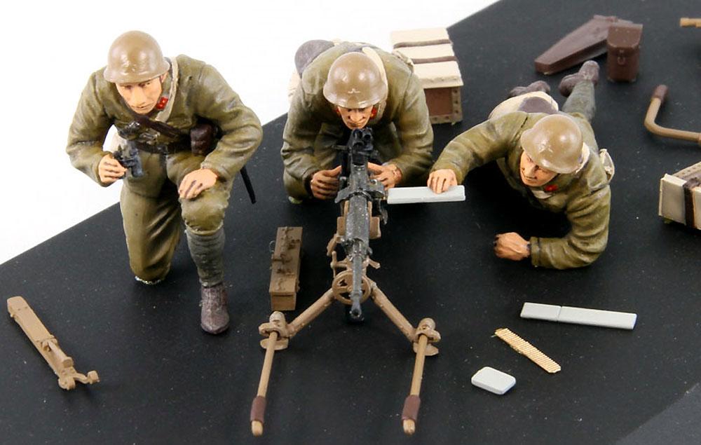 日本陸軍 九二式重機関銃 (射手3体付き)プラモデル(ピットロード1/35 グランドアーマーシリーズNo.G039)商品画像_4