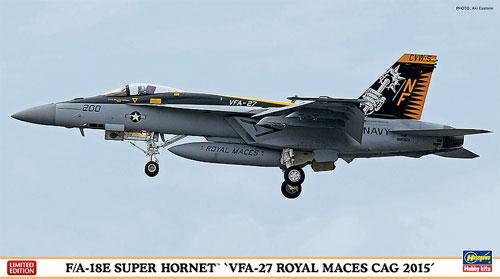 F/A-18E スーパーホーネット VFA-27 ロイヤル メイセス CAG 2015プラモデル(ハセガワ1/72 飛行機 限定生産No.02178)商品画像