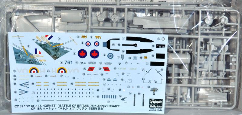CF-18A ホーネット バトル オブ ブリテン 75周年記念プラモデル(ハセガワ1/72 飛行機 限定生産No.02181)商品画像_1