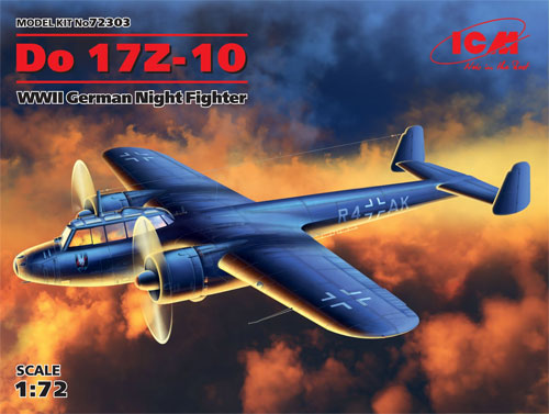 ドルニエ Do17Z-10 夜間戦闘機プラモデル(ICM1/72 エアクラフト プラモデルNo.72303)商品画像