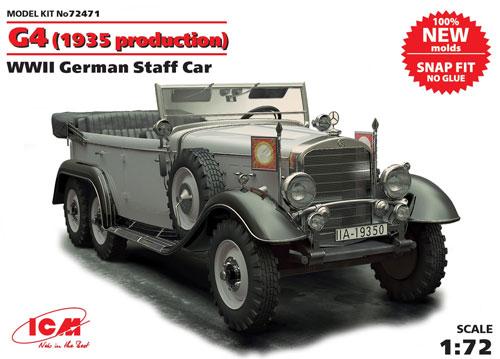 ドイツ G4 スタッフカー (1935年型)プラモデル(ICM1/72 ミリタリービークルNo.72471)商品画像