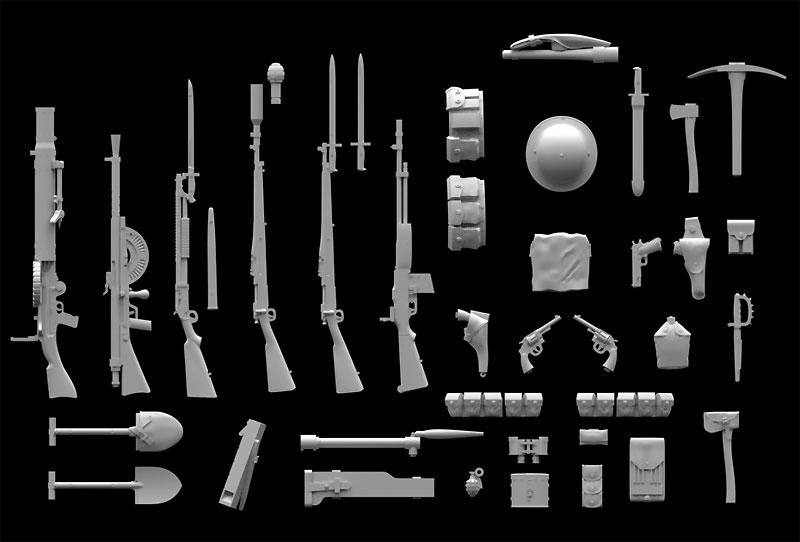 WW1 アメリカ歩兵 ウエポン & 装備プラモデル(ICM1/35 ミリタリービークル・フィギュアNo.35688)商品画像_2