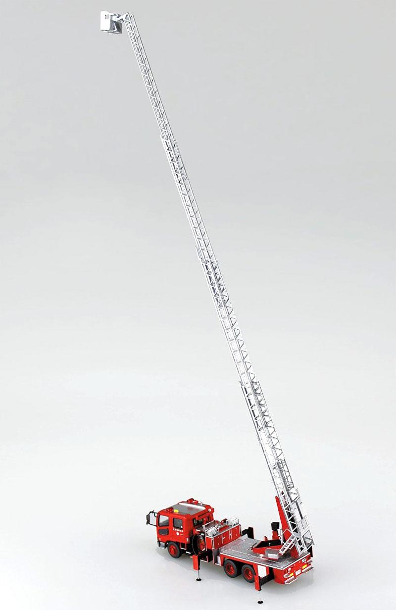 はしご付き消防車 (大津市消防局 東はしご1)プラモデル(アオシマワーキングビークルシリーズNo.002)商品画像_4