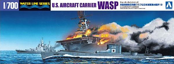 米国海軍 航空母艦 ワスプ & 日本海軍 潜水艦 伊19プラモデル(アオシマ1/700 ウォーターラインシリーズNo.010303)商品画像
