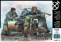 マスターボックス1/35 ミリタリーミニチュアドイツ オートバイ兵 コートスタイル 悪路脱出シーン