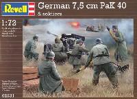 レベル1/72 ミリタリードイツ 7.5cm Pak40 w/クルー