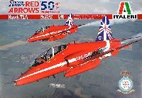 イタレリ1/48 飛行機シリーズホーク T1A  レッドアローズ 50周年記念