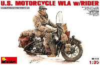 ミニアート1/35 WW2 ミリタリーミニチュアアメリカ モーターサイクル WLA w/ライダー