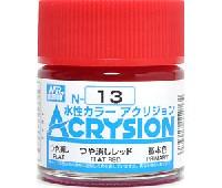 GSIクレオス水性カラー アクリジョンつや消しレッド (N-13)
