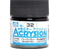 GSIクレオス水性カラー アクリジョンジャーマングレー (N-32)