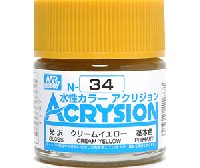 GSIクレオス水性カラー アクリジョンクリームイエロー (N-34)
