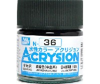 GSIクレオス水性カラー アクリジョン暗緑色 (中島系) (N-36)