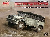 ICM1/35 ミリタリービークル・フィギュアドイツ 重統制型軍用車 ホルヒ 108 Typ40 ソフトトップ