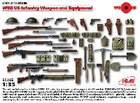 ICM1/35 ミリタリービークル・フィギュアWW1 アメリカ歩兵 ウエポン & 装備
