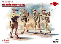 ICM1/35 ミリタリービークル・フィギュアアメリカ歩兵 (1917)