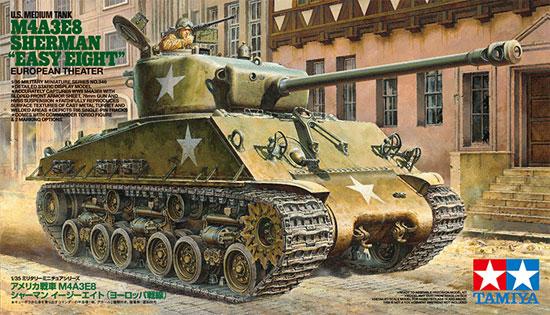 アメリカ戦車 M4A3E8 シャーマン イージーエイト (ヨーロッパ戦線)プラモデル(タミヤ1/35 ミリタリーミニチュアシリーズNo.346)商品画像