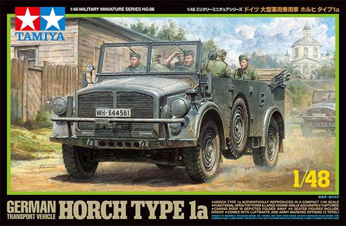 ドイツ 大型乗用軍用車 ホルヒ タイプ1aプラモデル(タミヤ1/48 ミリタリーミニチュアシリーズNo.086)商品画像